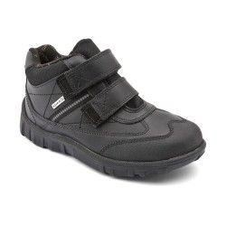 Black Leather Boys Children's Boots