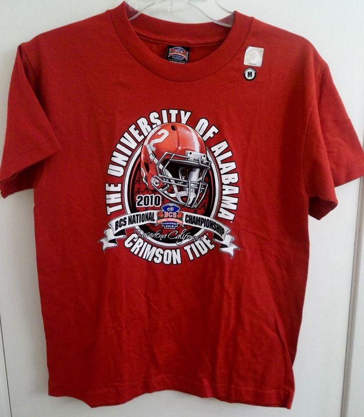 University of Alabama 2010 BCS National Championship T-Shirt Youth Size Medium