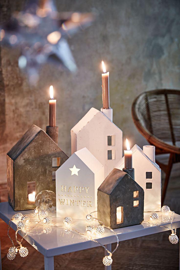Dekorative Kerzenhalter aus Beton (Foto: Impressionen)