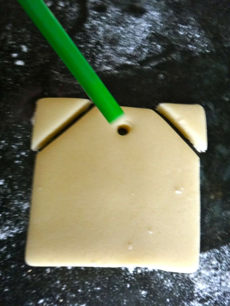 Tea Bag Cookie Cutter | Punch a hole for the black licorice string.