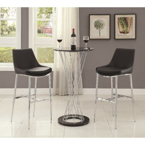 Coaster Bar Units and Bar Tables Contemporary Bar Table and Stool Set - Coaster Fine Furniture