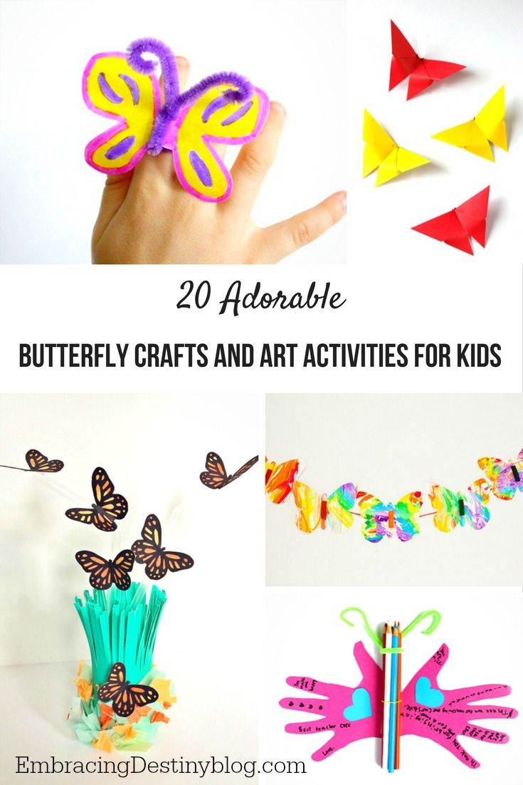 Unit study colors preschool - 20 Adorable Butterfly Crafts And Art Activities For Kids