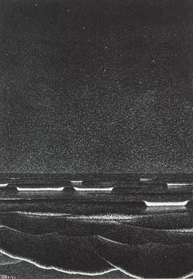 mc escher phosphorescent sea