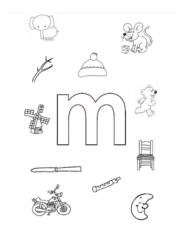 Welk voorwerp begint met de 'M' van mama?
