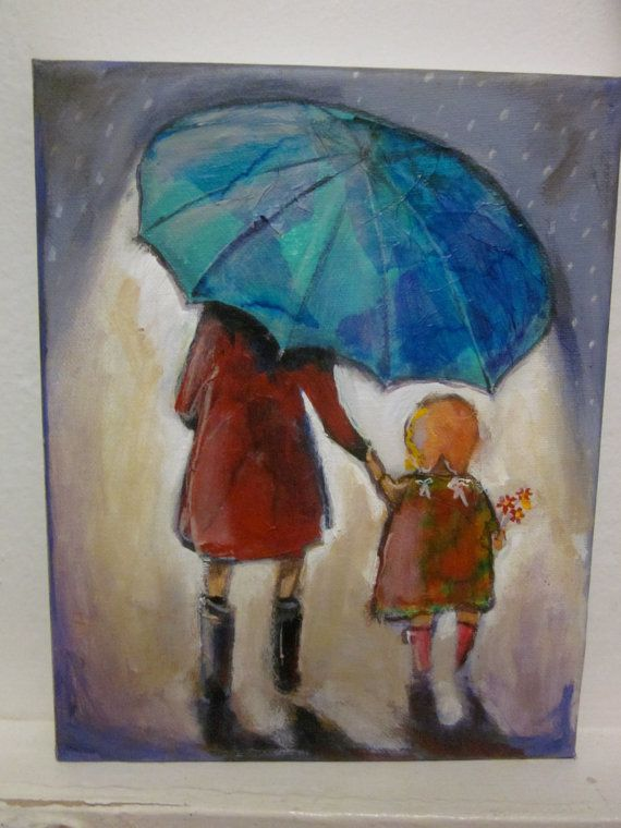 Mom's big umbrella, my shelter in life's storms. <3