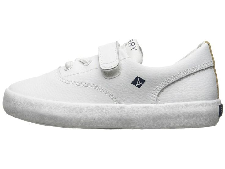 Sperry Kids Wahoo JR. (Toddler/Little Kid) Boys Shoes White Leather