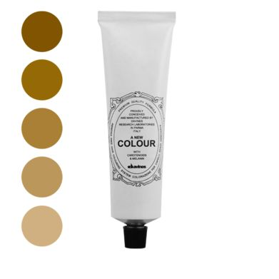 A New Colour Golden.    Ammonia free colour cream enriched with carotenoids and melanin for a strong anti-oxidant action that is able to cover perfectly white hair, to lighten up to three levels to darken and to change the reflex.