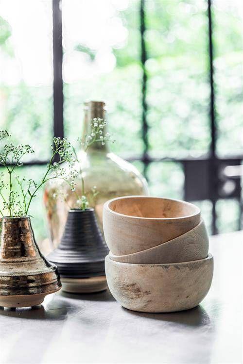 HK Living Bol en bois naturel - ∅ 13 - 15 cm - HK Living - Petite Lily Interiors