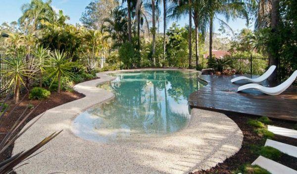 Moderne Gartengestaltung 100 Erstaunliche Gartenideen Pool Gartengestaltung Gartenideen In 2020 Backyard Pool Landscaping Garden Pool Design Relaxing Backyard