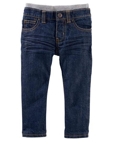 Microfleece-Lined Jeans - True Rinse Wash