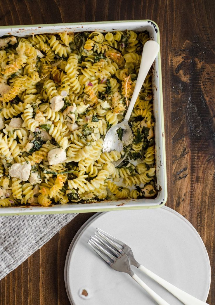Recipe: Chicken Pasta Bake with Spinach & Parmesan