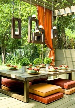 The backyard is one of the top destinations this summer – so, here are some design ideas to help you get your backyard patio looking like it was ripped from the pages of a home decor magazine! Indoor Design Outside Your backyard patio can feel like an extension of your home.