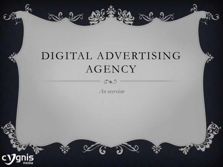 Digital Advertising Agency by Nelsan Ellis via slideshare