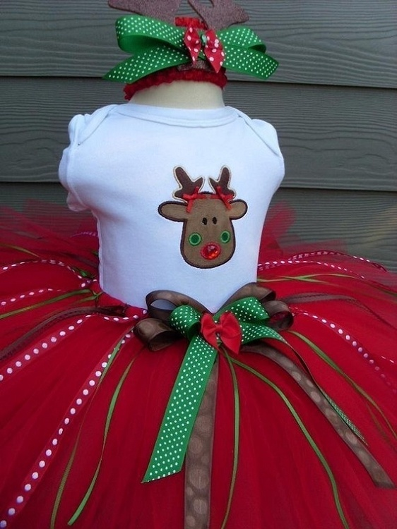 Girls Fairy Fashion Rudolph Reindeer Tutu Set...so cute for Christmas!  (maybe could make one like it??)