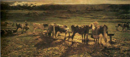 Alla stanga, 1886, Olio su tela, Roma, Galleria Nazionale d'Arte Moderna