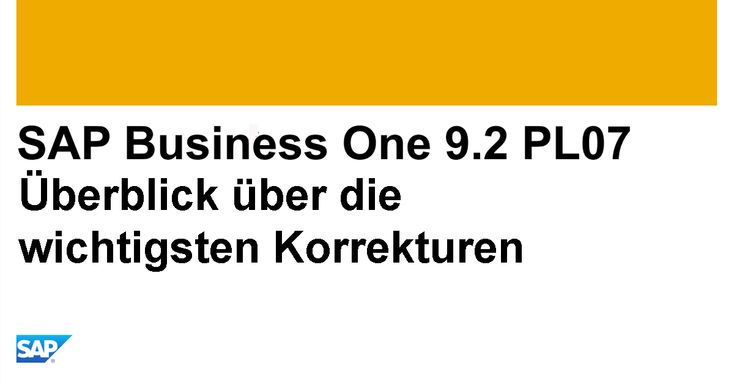 Top Fixes SAP Business One 9.2 PL07: http://www.b1-blog.de/top-fixes-sap-business-one-9-2-pl07/