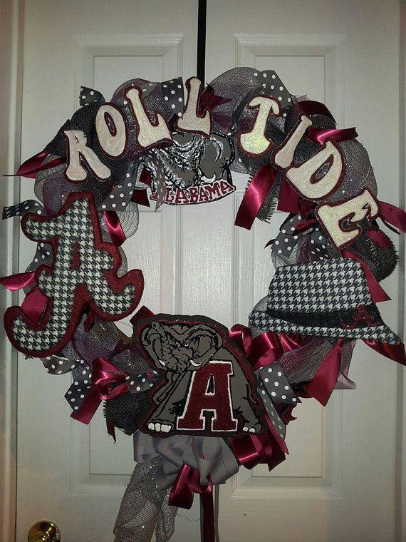 University of Alabama Roll Tide Door Wreath by AutumnsOriginals, $75.00
