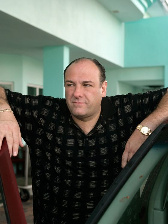 James Gandolfini dans le rôle de Tony Soprano, personnage principal de la série Les Soprano. 1 | Vanity Fair