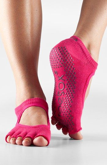getting these now! Perfect for yoga/pilates!ToeSox 'Bella' Half Toe Gripper Socks | Nordstrom