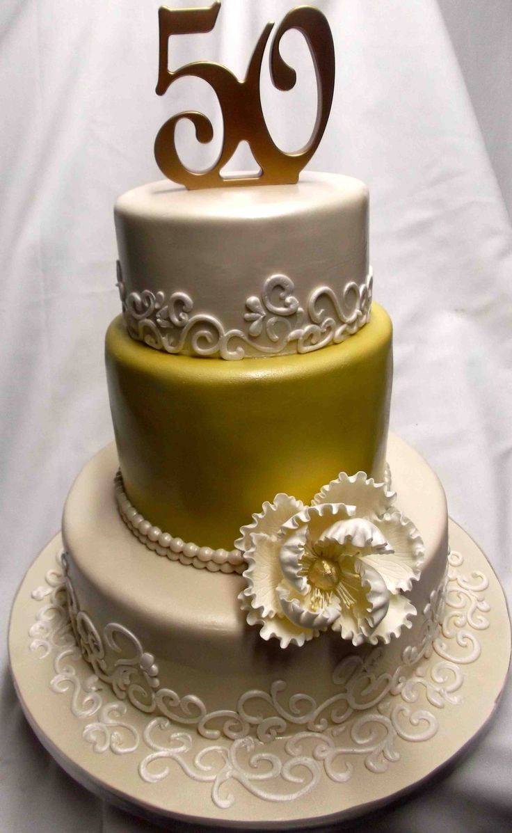 147 best 50th wedding anniversary cake images on Pinterest ...