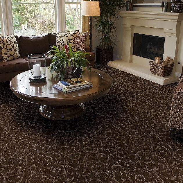 Carpet Cascade Garden - Z6828 - Dark Olive - Flooring by Shaw