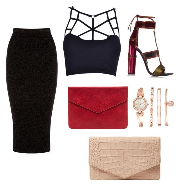 """PARTY:)"" by jjung5631 on Polyvore featuring Tom Ford, Warehouse, Emily Cho and Anne Klein"