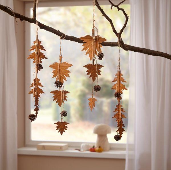 4er Metall Hanger Herbstblatter Deko Herbst Fenster Wand