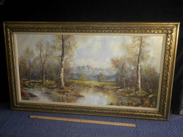 Original Oil Painting Of Landscape By German Artist Josef
