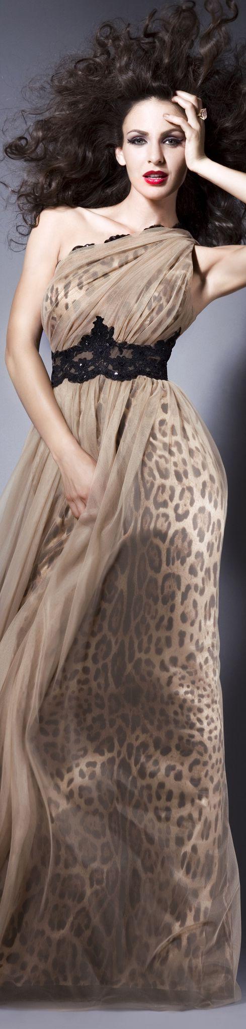 I AM WILD Collection: FALL IN LOVE  Rochie de seara animal print gown #animalprint #oneshoulder #dress!!!!!!!!