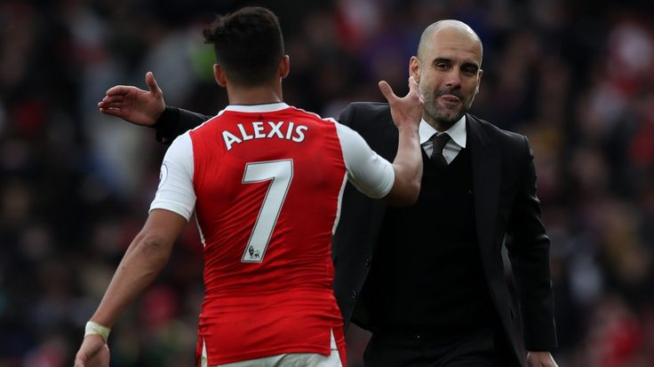 Pep Guardiola won't say if Manchester City will bid for Alexis Sanchez again #News #AlexisSanchez #Arsenal #Football #ManCity