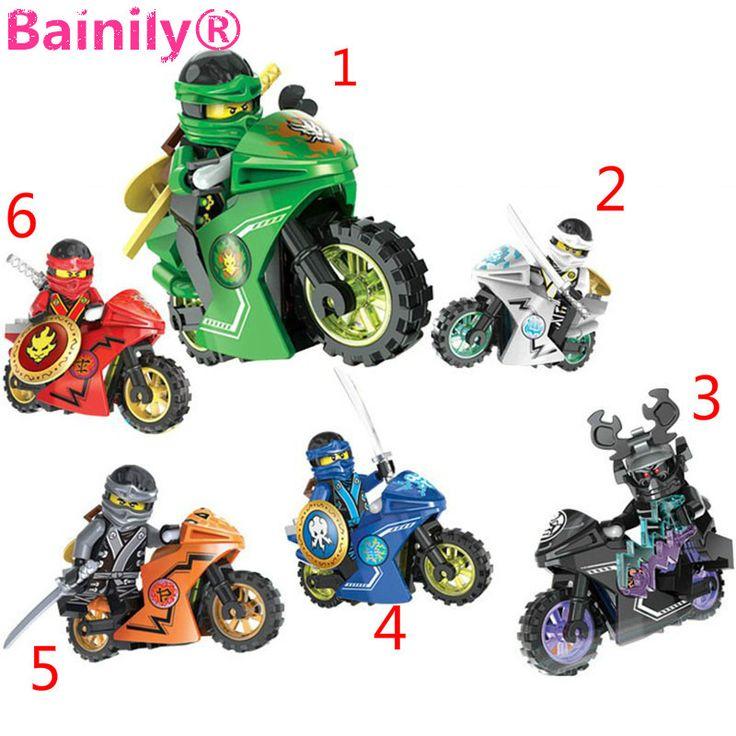 [Bainily] 258A Caliente Moto Ninja de Bloques de Construcción Ladrillos juguetes Compatible legoINGly Ninjagoed para regalos de los niños