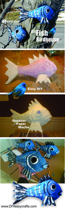 How to easily make outdoor weather resistant paper mache with inexpensive materials found at any hardware store. Easy to work with and great for many backyard art or sculptures.