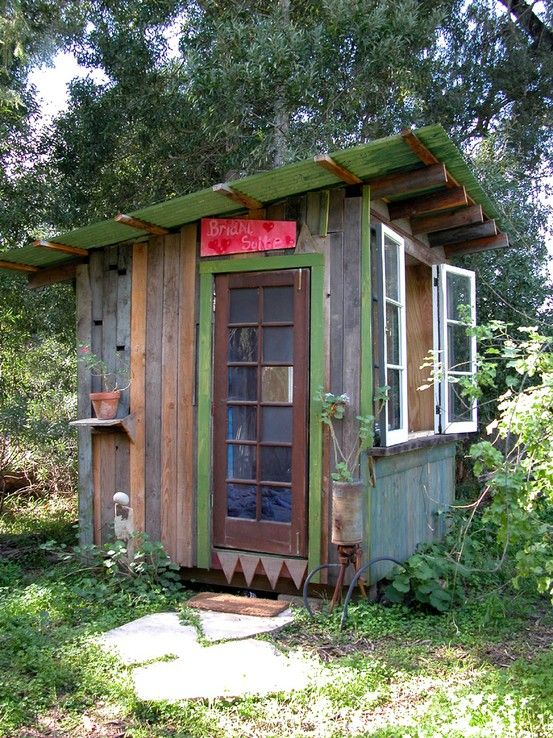 cute shed made from recycled materials