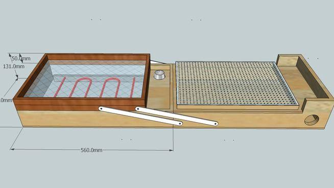 Große Vorschau der 3D Drawing von Suitcase Vacuum Former