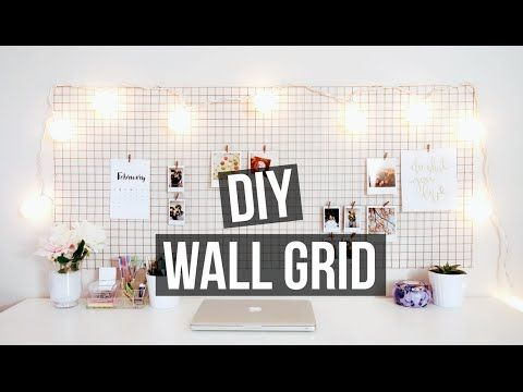 DIY WALL GRID | Urban Outfitters + Pinterest Inspired