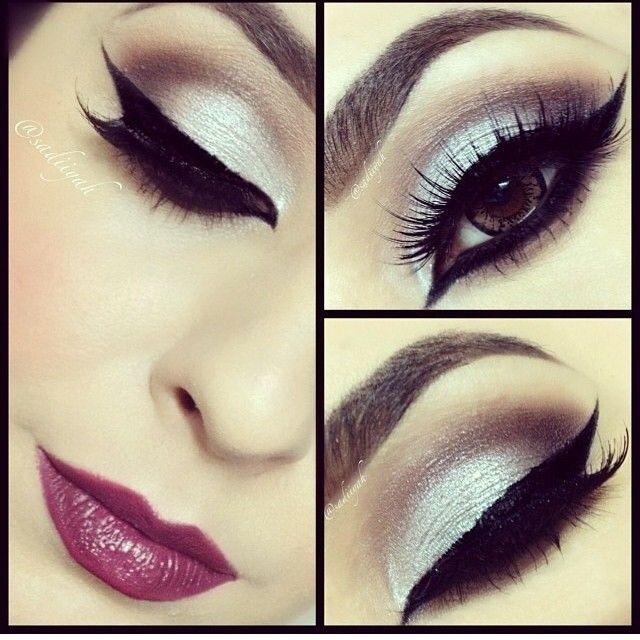 Deep makeup. For brown eyes