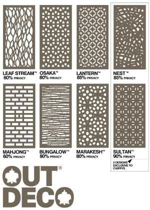 outdeco panels - Timber Screening, Merbau Screening, Privacy Screens, D.I.Y Screens by dianne