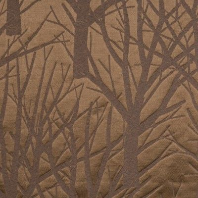 Albero Bello creates a dramatic statement on a traditional brocatelle. The large scale of this pattern provides an exquisite forest silhouette on a satin weave ground. I think this fabric would look nice as a wall-covering.
