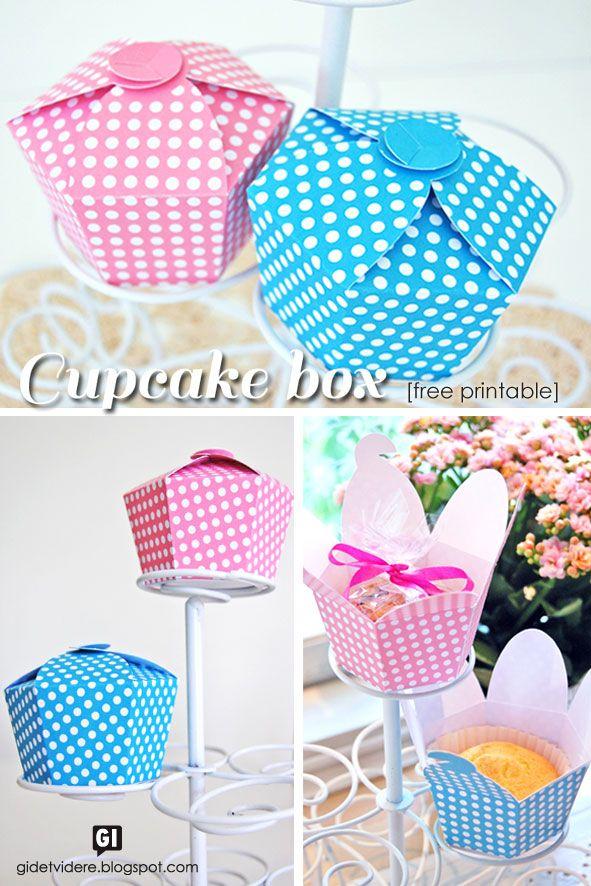 DIY printable cupcake box