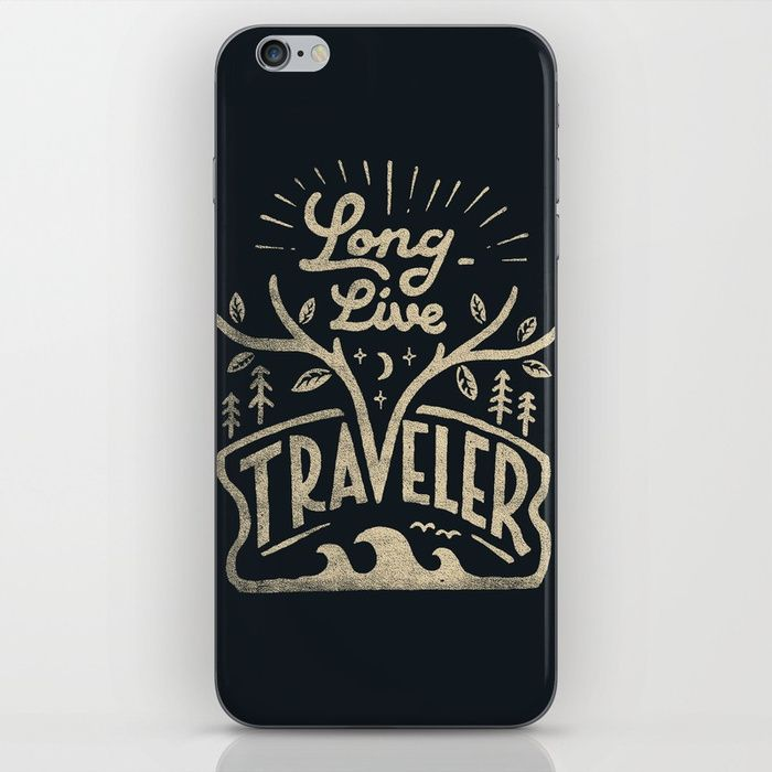 Long Live Traveler by Skitchism -  Typography design phone cases by independent artists.