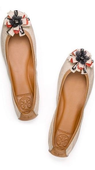 frilly flats | tory burch. Adorable.