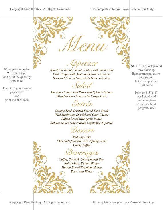 Best  Menu Card Template Ideas On   Restaurant Menu