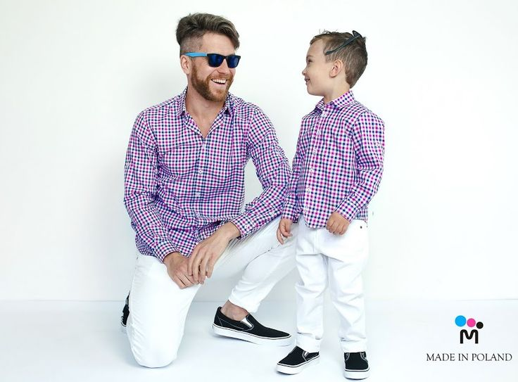 For Dad and for Son, Super Team is wearing the same shirts made by P=Monsinior - exclusive Polish Brand All Made with passion!