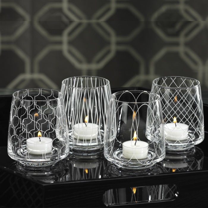 4 Piece Metro Tealight Holder Set - these are just lovely!