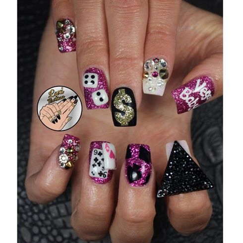 Vegas  by leximartone - Nail Art Gallery nailartgallery.nailsmag.com by Nails Magazine www.nailsmag.com #nailart