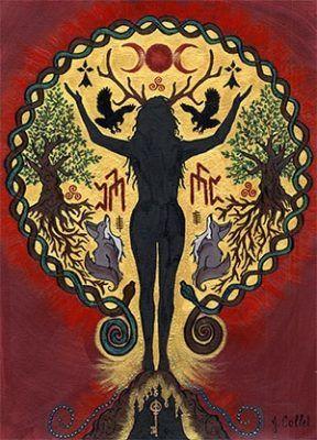 Dahud-Ahes Goddess A4 Print by Julie Collet