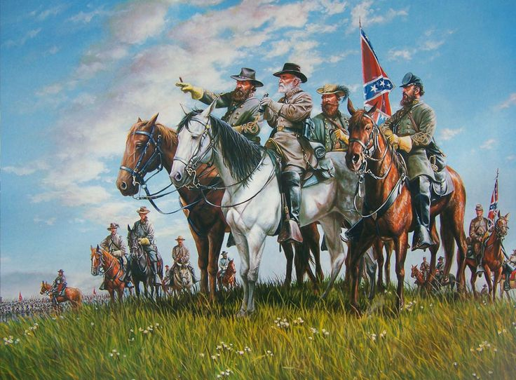 ACW Pickett's Charge,Gettysburg, July 3, 1863, by Mort ... |American Civil War Battle Paintings