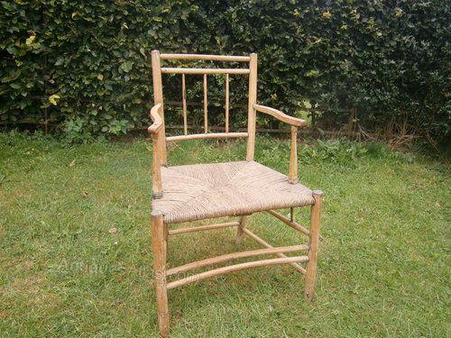 Georgian Ash Arm Chair - Antiques Atlas