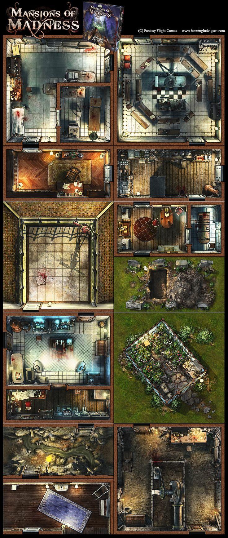 Mansions Of Madness, Forbidden Alchemy expansion by henning.deviantart.com on @DeviantArt