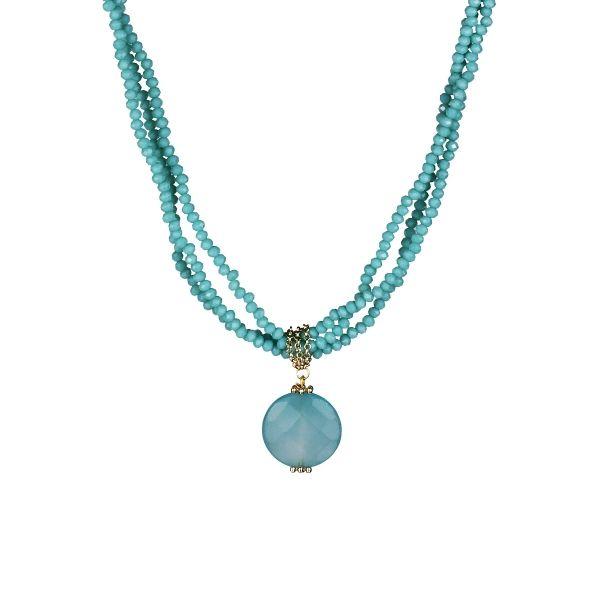 Kesme Taşlı Kolye #kolye #renkli #takı #trend #etnik #moda #kadın #fashion #woman #accessories #necklace #colourful
